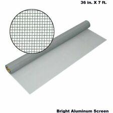 """Aluminum Bug Screening 36"""" x 7 ft. Bright Insect Window Door Wire Screen Mesh"""