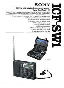 SONY ICF-SW1 SHORTWAVE RADIO AUDIO PROBLEM REPAIR SERVICE W/ LED