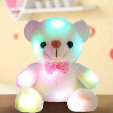Creative Light Up LED Teddy Bear Stuffed Animals Plush Toys Kids Birthday Gifts