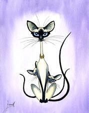 SIAMESE ORIENTAL CAT KITTEN ART PRINT 6214 Dianne Heap