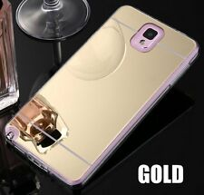 For Samsung Galaxy Note 3 - Hard Gummy Rubber Case Cover TPU MIRROR GOLD / CLEAR