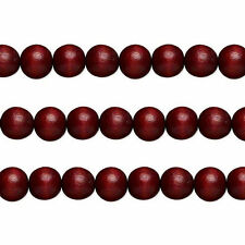 Wood Round Beads Dark Brown 12mm 16 Inch Strand