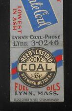 1930s Hoslate Coal Reed and Costolo Coke Fuel Oils 871 Washington St. Lynn MA MB