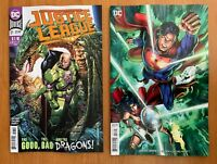 JUSTICE LEAGUE #17 2019 Cheung Main Cover A + Will Conrad Variant Set DC NM+