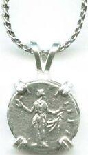 145AD Roman Silver Denarius Coin Empress Faustina Jr Goddess of Hope Spes Flower