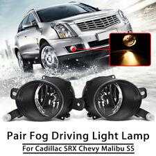 Front Bumper Fog Light Lamps w/ Bulbs For 2010-2015 Cadillac SRX Chevy Malibu