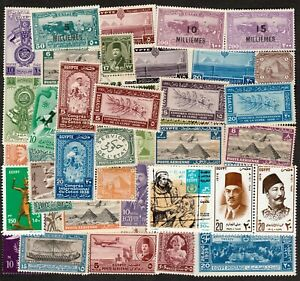 EGYPT ALL PERIODS SELECTION OF MINT STAMPS INCLUDING COMPLETE SETS, SOME MNH