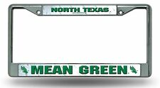 North Texas Mean Green LBL Chrome Metal License Plate Frame Cover University of