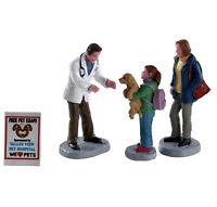 Lemax CHARLEY THE VET SET OF 4 #82578 BNIP Figurines