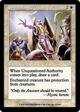 UNQUESTIONED AUTHORITY Judgment MTG White Enchantment — Aura Unc