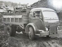 Vintage White 3000 Dump Truck Earth Moving Equipment SF CA Orig Photo 1956