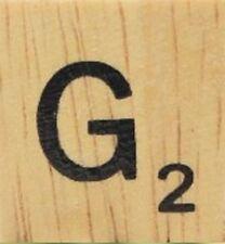 INDIVIDUAL WOOD SCRABBLE TILES! 8 FOR $2, THEN 25 CENTS PER TILE. LETTER G