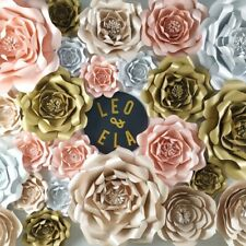 Giant Large Paper Flowers Rose Roses For Wedding Baby Shower Backdrop Decoration