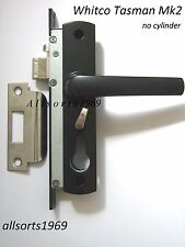 SECURITY SCREEN DOOR LOCK  * BLACK *  WHITCO TASMAN MK2   *NO CYLINDER*
