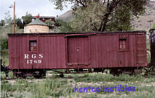 Rio Grande Southern Tool Car narrow gauge railroad train postcard
