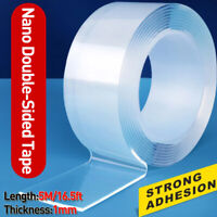 5m/16.5ft Reusable Double Side Adhesive Nano Traceless Tape Removable Adhesive