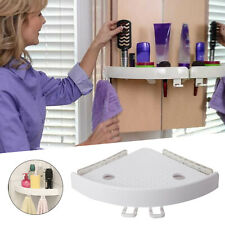 Bathroom Corner Shelf Adhesive Storage Rack Holder Shampoo Shower Basket White
