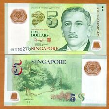 Singapore, 5 Dollars, ND (2013), Polymer, P-47c, UNC > Two Triangles