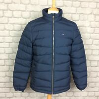 TOMMY HILFIGER DENIM MENS UK M NAVY BLUE DOWN QUILTED PUFFA JACKET  £180 PUFFER