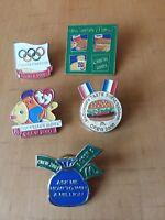 Lot of 5 McDonald's Monopoly Olympic Beanie 2000 2001 Lapel Crew Employee Pins