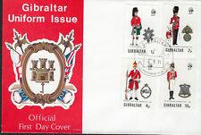 Gibraltar: 1971 UNIFORMES MILITAIRES-Série 3 sur Illustrated FDC