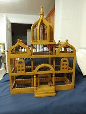 Victorian Vintage Wood & Wire Wooden Bird Cage. Taj Mahal Style 25 in tall