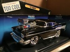 1957 chevy TOO COOL big BLOWER black  1/18 muscle machine M2 series opened box
