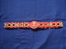 Fashion Ways Ltd London ladies red and gold fashion belt 29 inches