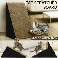 Triangle Pet Cat Kitten Scratcher Scratching Cardboard Corrugated Mat Pad Bell