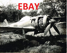 WWII 16X20 PHOTOGRAPH OF CAPTURED JAPANESE FIGHTER AIRCRAFT ON SAIDOR LOOK