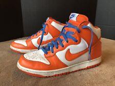 Mens 2009 NIKE Dunk High Top SB Orange Blue Size 11.5 Shoes Knicks 317982 181