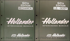 1984-1998 Hollander 64th Edition Parts Interchange Manual Set of 4 New Car Truck