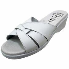 Sandalias y chanclas de mujer sin marca color principal blanco de piel