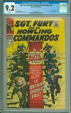 SGT. FURY AND HIS HOWLING COMMANDOS 48 CGC 9.2 WP HITLER MARVEL SILVER AGE 1967