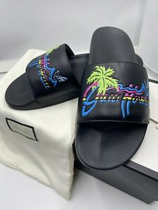 HOT!* Men's Gucci Hawaii Pool Slides Flip Flops size 11 fits 12 US Made in Italy