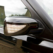 black mirror cover caps LED indicator+welcome light Land Rover Discovery LR3 DRL