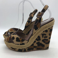 Christian Louboutin Brown Leopard Wedge 9