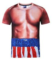 Rocky Balboa Costume T-Shirt ( all over 3d printed print fancy dress rocky tee )