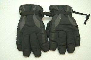VTG Champion Thinsulate C9 40 Gram Snow Ski Gloves Black Size M Winter Warm