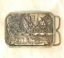 Alice Wonderland Through Looking Glass Collectibles Lot Belt Buckle Books Litho
