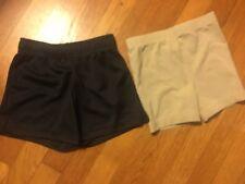 Little Girls Euc Shorts -Set of 2-Tan Land's End -S/4 & Navy Danskin Xs/4-5