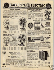 "1949 PAPER AD Emerson Electric Fan 10"" 12"" 16"" Oscillating"