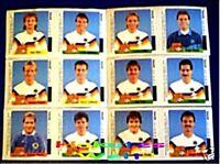 HANUTA - WM - 1990  - 12 verschiedene Sticker - rar
