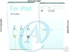 Cavo audio video bianco rca rosso giallo jack 3,5mm AV per apple Ipod mp4 tv mp3