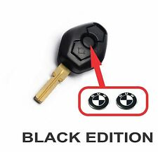 BMW Black White fob key central button domed sticker badge (Set of 2).