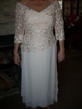 New Women's Size 12 Champagne Evening Dress Gown by Daymore Couture Formal