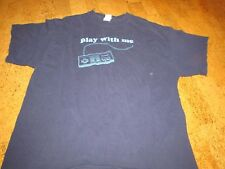 "Nintendo T- Shirt Adult Size XL, Black ""Play with Me"""