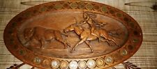 New listing Antique Native American Wood Carving Coin Art (Read My Full Description)