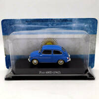 IXO Altaya 1:43 Fiat 600D 1962 Blue Diecast Models Limited Edition Collection