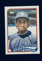 DEION SANDERS 1989 Topps Traded #110T ROOKIE RC NY Yankees Baseball Card *MINT*